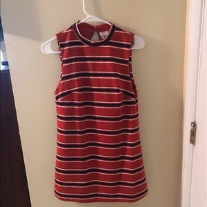 60's style simple striped dress